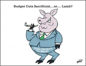 Budget Cuts Sacrificial Lamb
