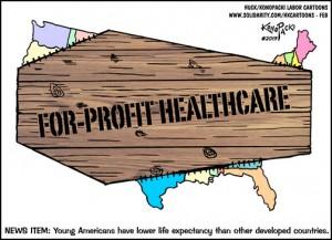 For-profit healthcare cartoon