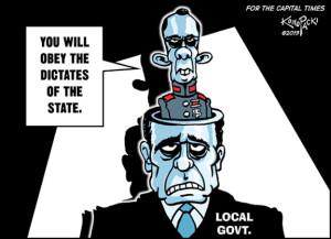 Walker Dictates to locals