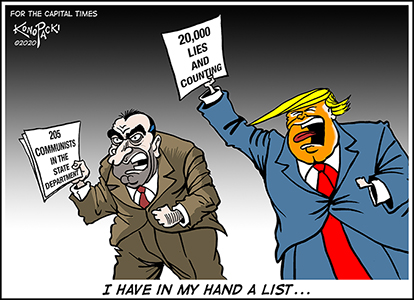 Mike Konopacki Capital Times Cartoons for 2020