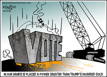 Mike Konopacki Labor Cartoons for October 2020